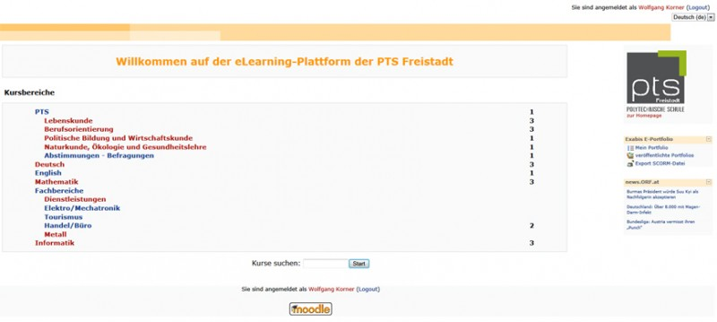 Moodle PTS Freistadt